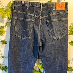 Levi's men's relaxed 550 jeans mid blue size 38
